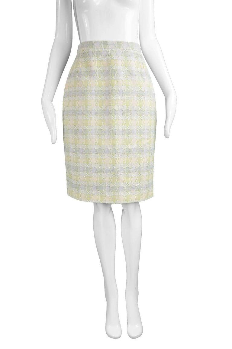 Unworn Christian Lacroix Cotton & Raffia Tweed Vintage Skirt Suit, 1990s For Sale 3