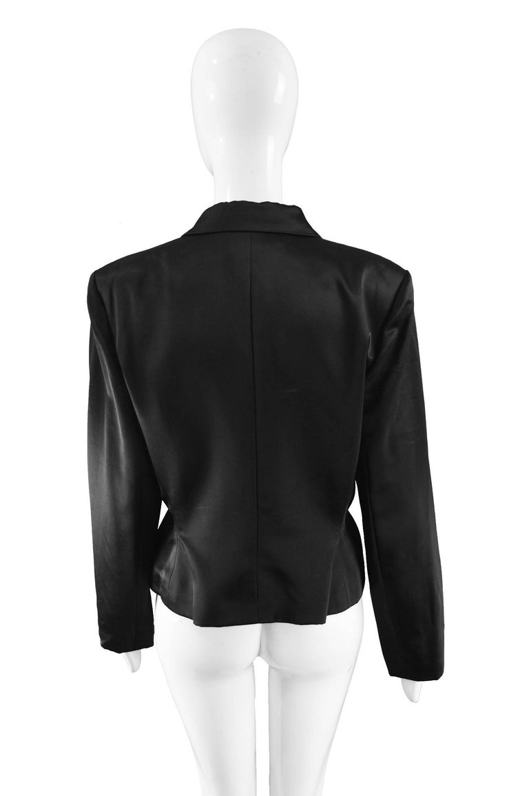 Givenchy Couture by John Galliano Black Satin Bow Evening Jacket, 1996 For Sale 2