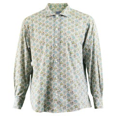67831d4c Kenzo Men's Vintage Floral Print Cotton Button Up Shirt, 1990s