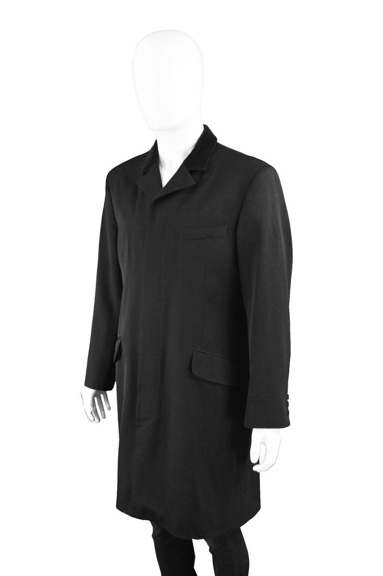 Katharine Hamnett Men's Vintage Black Wool Victorian Style Frock Coat, 1990s For Sale 1