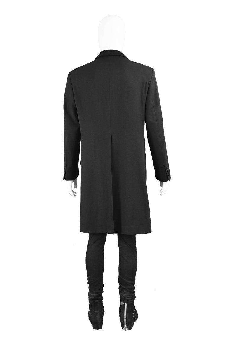 Katharine Hamnett Men's Vintage Black Wool Victorian Style Frock Coat, 1990s For Sale 3