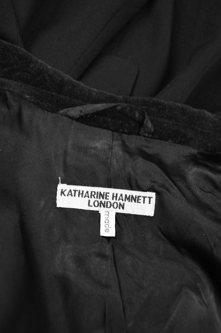 Katharine Hamnett Men's Vintage Black Wool Victorian Style Frock Coat, 1990s For Sale 4
