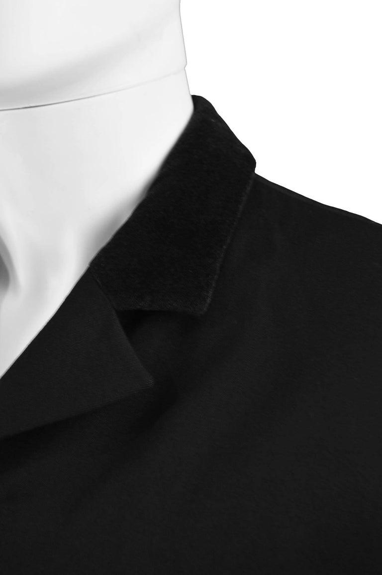 Katharine Hamnett Men's Vintage Black Wool Victorian Style Frock Coat, 1990s For Sale 2