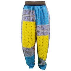 Paul Smith Vintage Men's Multicoloured Cotton Paisley Harem Pants, 1990s