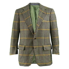 Chester Barrie for Harrods Men's Vintage Pure Cashmere Checked Jacket, 1970s