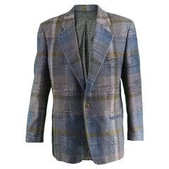 Umberto Ginocchietti Vintage Men's Wool Checked Tweed Blazer, 1980s