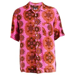 Comme Des Garcons Homme Plus Hand Dyed Pink Men's Rayon Shirt, Spring 2005