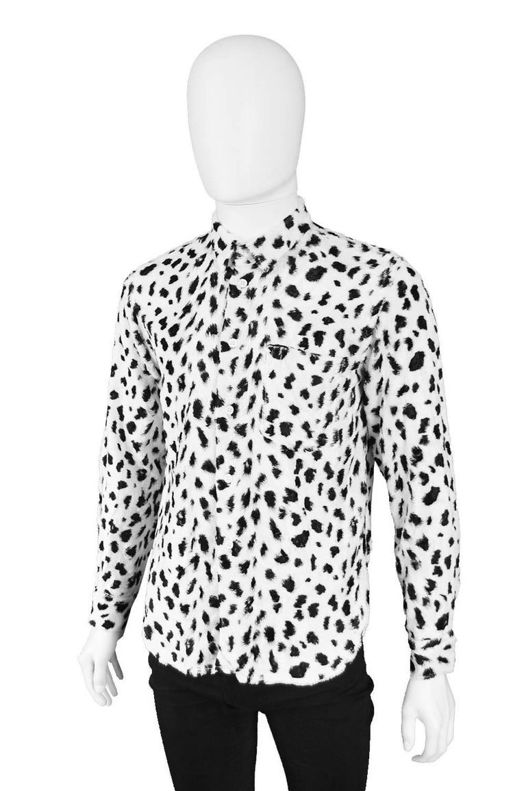 Comme des Garcons Homme Plus Faux Fur Cheetah Print Black and White ... 4e8c7bf6b