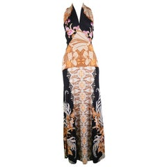 Mac Tac Paris for Saks Fifth Avenue Vintage Printed Jersey Maxi Dress, 1970s