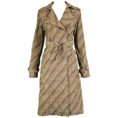 "Jeremy Scott Logomania ""Duty Free Glamour"" Trench Coat, S / S 2000"