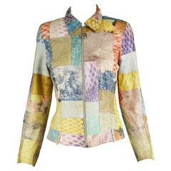 Roberto Cavalli Vintage Women's Leather Patchwork Jacket, 1990s
