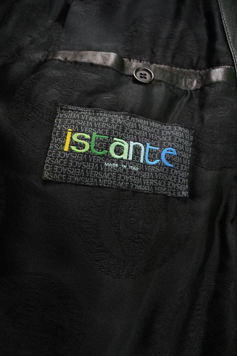 Gianni Versace Istante Men's Leather & Shearling Zeus Head Duffel Coat, 1990s For Sale 8