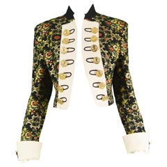 Moschino Vintage Floral Tapestry Brocade Rococo Style Women's Jacket, 1990s