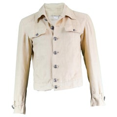 Gianni Versace Couture Pure Cream Linen Men's Unisex Jacket, S/S 2003