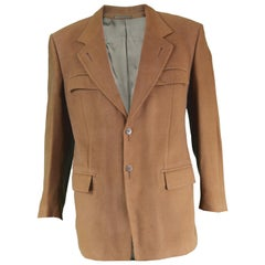 Claude Montana Men's Vintage Brown Modal & Cotton Blazer Jacket, 1990s