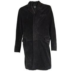 Joseph Homme Black Suede Mens Vintage Coat, 1990s