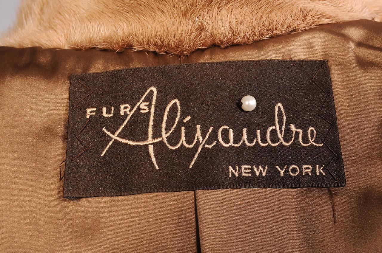 Women's Alixandre Furs Honey Blond Mink Coat For Sale