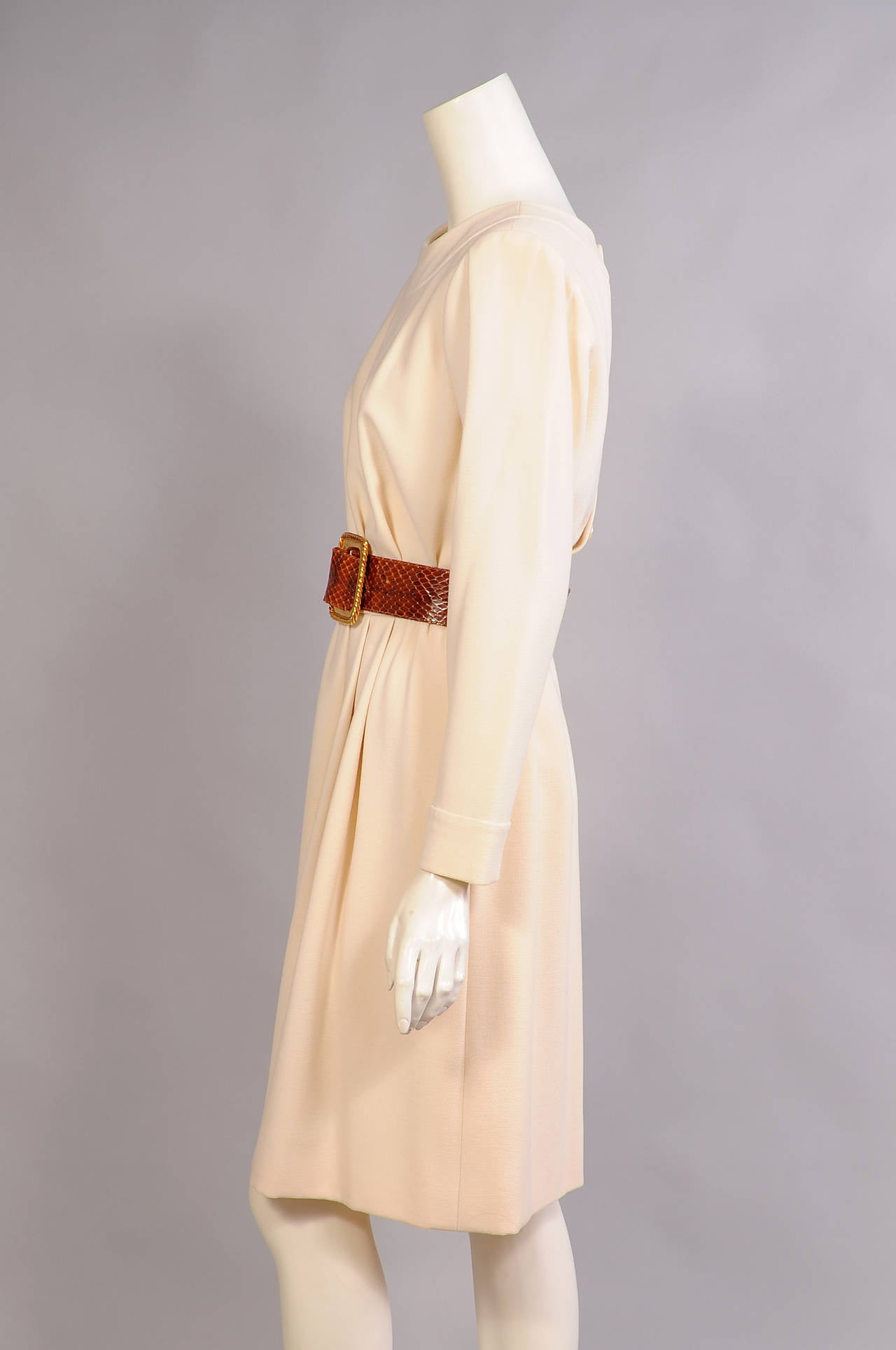 Yves Saint Laurent Haute Couture Winter White Coat And
