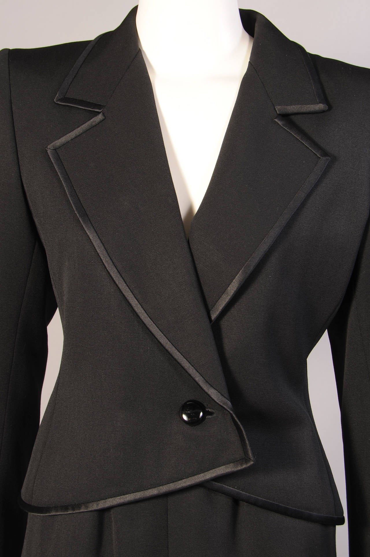 Black Yves Saint Laurent Numbered Haute Couture Le Smoking Suit For Sale
