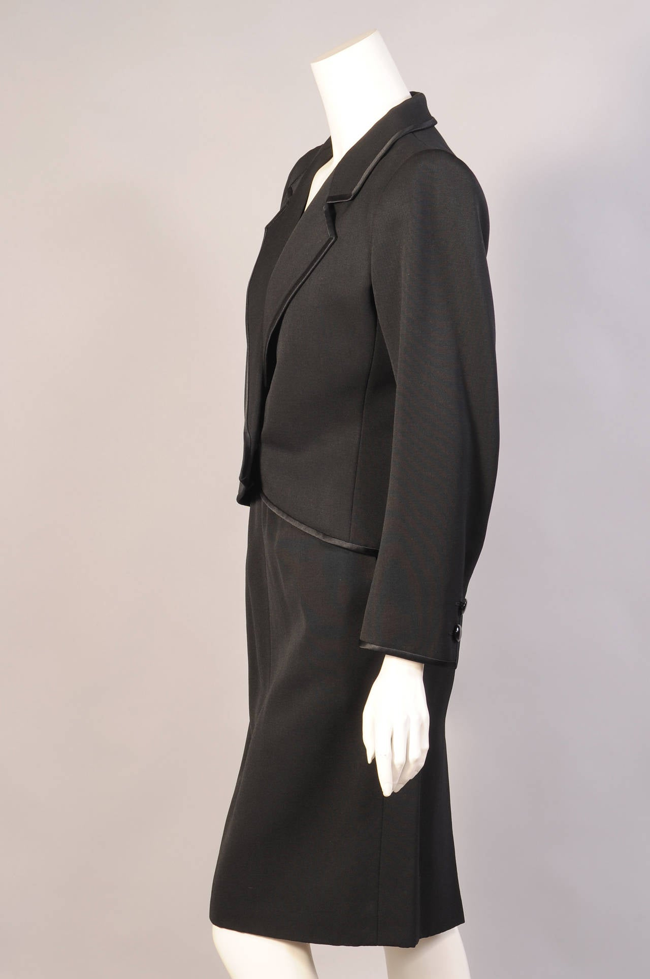 Yves Saint Laurent Numbered Haute Couture Le Smoking Suit In Excellent Condition For Sale In New Hope, PA