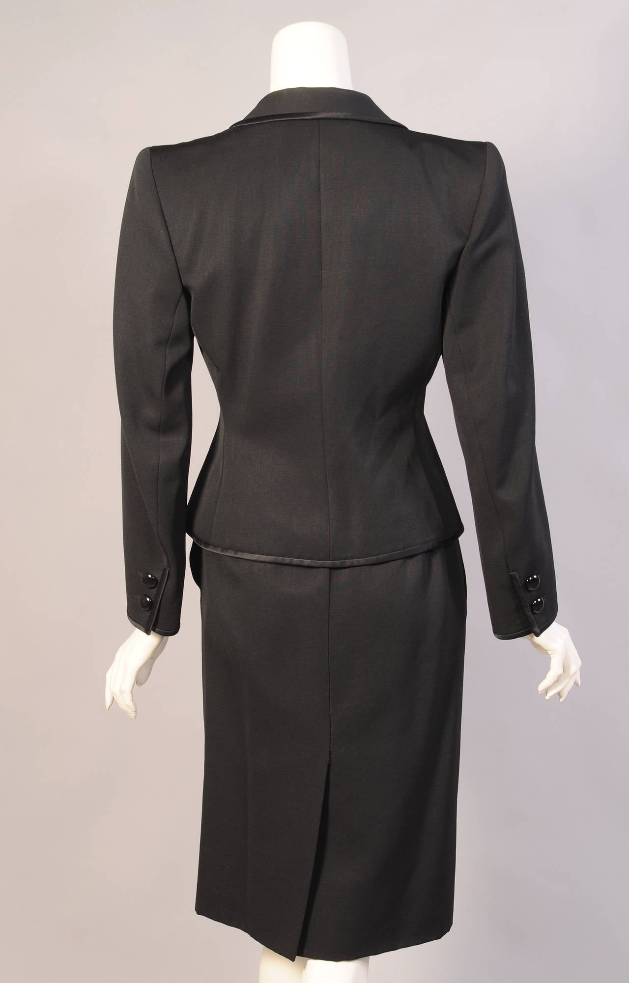 Women's Yves Saint Laurent Numbered Haute Couture Le Smoking Suit For Sale