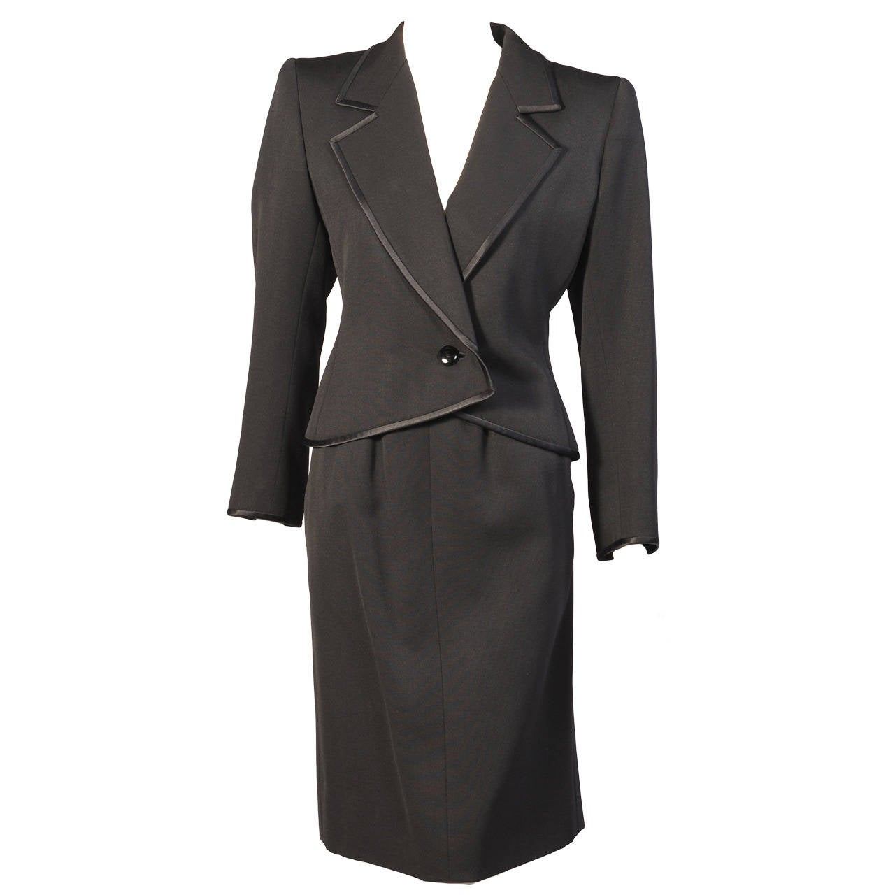 3d1ca0904f6 Yves Saint Laurent Numbered Haute Couture Le Smoking Suit For Sale ...