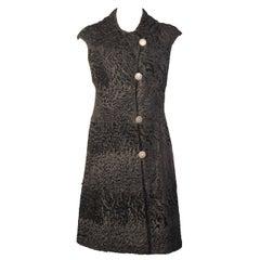 Unusual Russian Broadtail Coat Dress