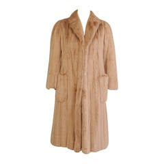 Alixandre Furs Honey Blond Mink Coat