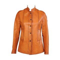 Jil Sander Ombred Leather Jacket, Never Worn