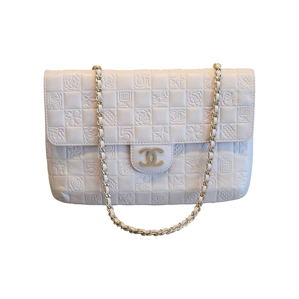 3097148a5413de ... Iconic Large Chanel Bag: Iconic Chanel Charms Bag In Blush, Never Used  At 1stdibs