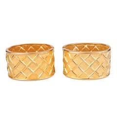 Pair of Wide Golden Cuffs