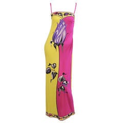 Vintage Pucci Long Stemmed Rose Dress