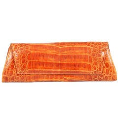 Sleek Italian Crocodile Clutch