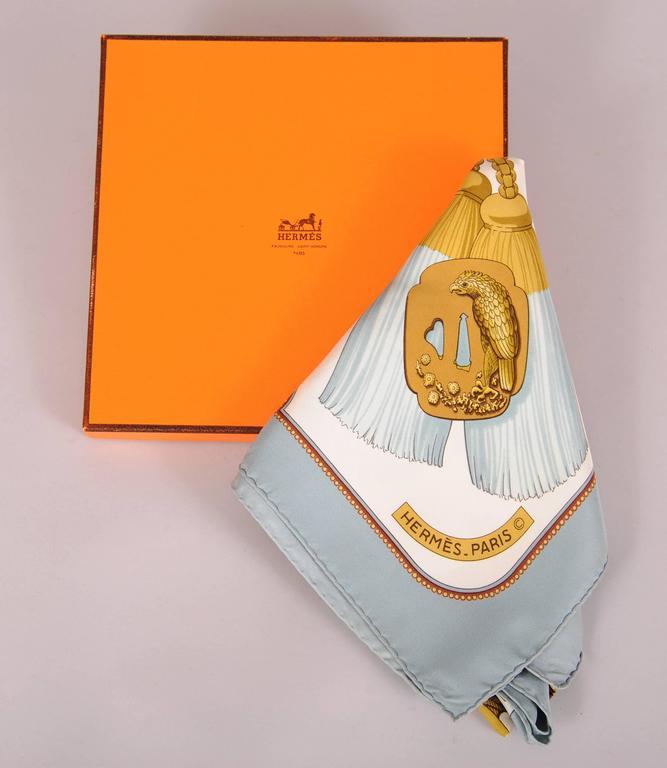 Tsubas 1980's Hermes Silk Scarf Designed by Christiane Vauzelles 3