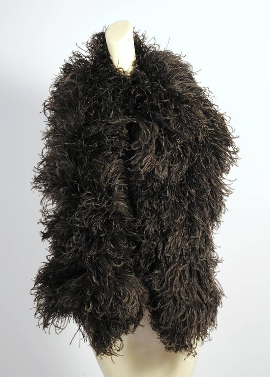 Black Double Ostrich Feather And Ribbon Stole At 1stdibs