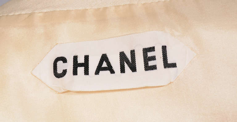 Chanel haute couture silk faille suit for sale at 1stdibs for I see both sides like chanel shirt
