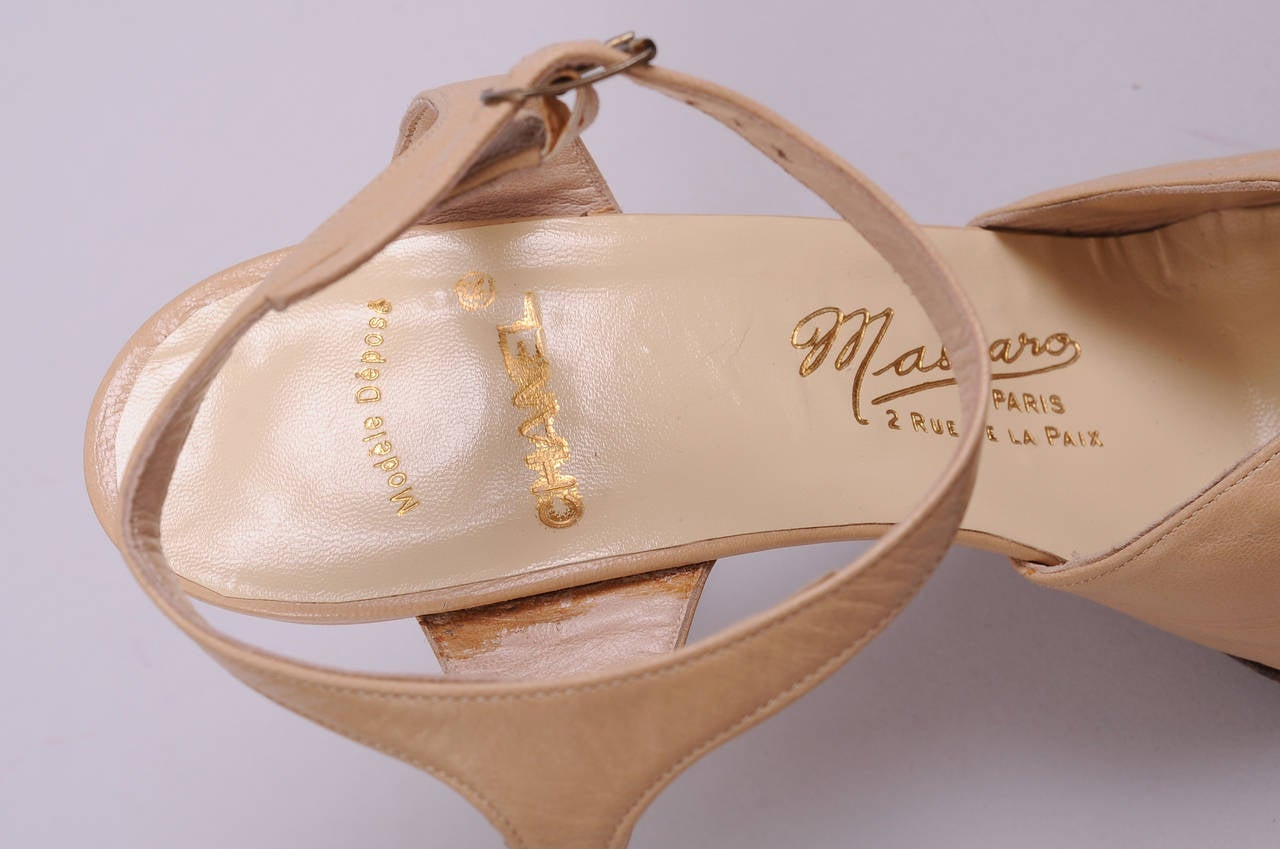 Massaro for Chanel Haute Couture Runway Worn Hand Made Shoes 4