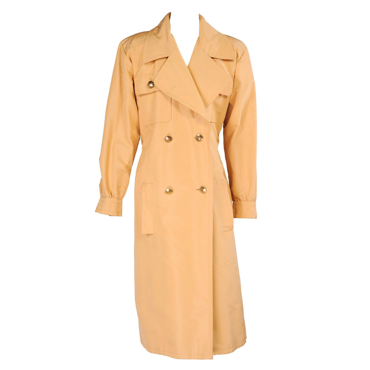 Givenchy Haute Couture Runway Worn Silk Faille Trenchcoat