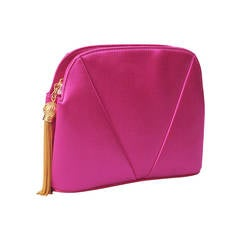 Valentino Hot Pink Satin Clutch