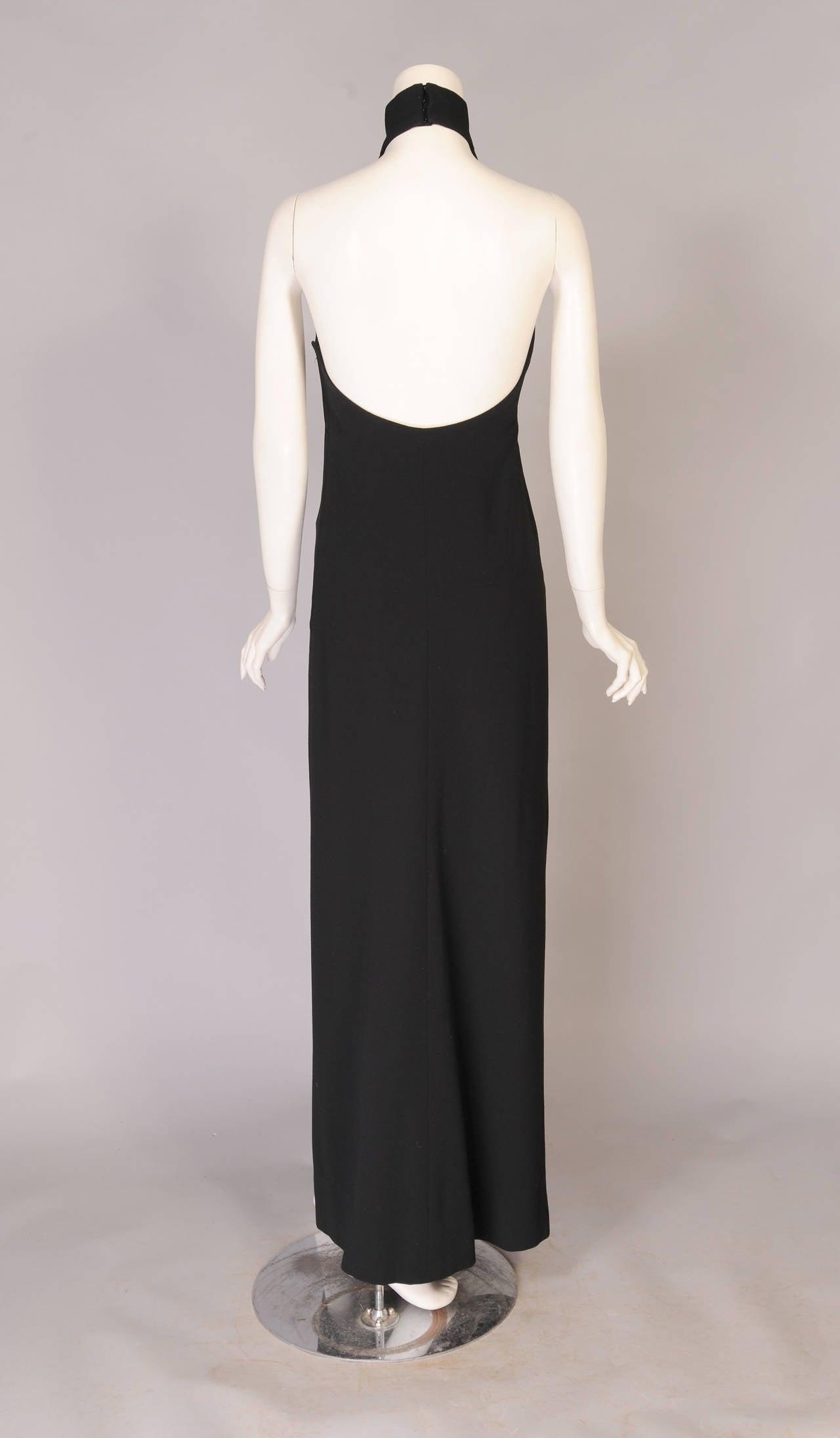 1960's Norman Norell Elegant Black Halter Dress, ex Model & Muse Denise 3