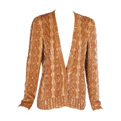 Norman Norell Gold Beaded and Embroidered Jacket