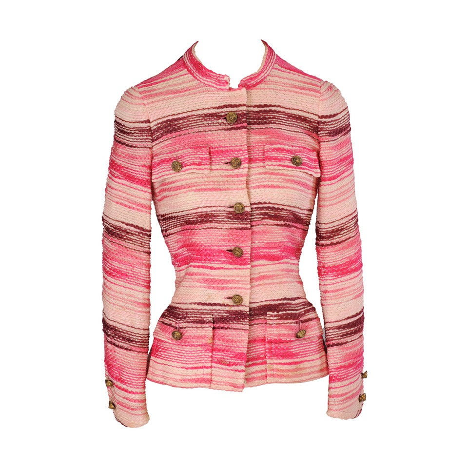1970 39 s chanel numbered haute couture jacket for sale at for Haute couture jacket