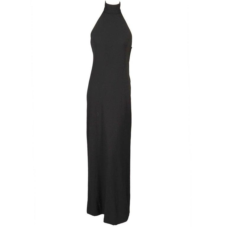 Norman Norell Black Halter Dress  For Sale