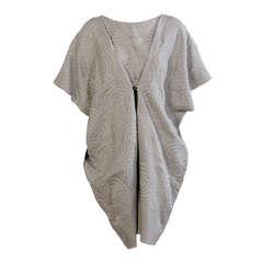 Japanese Embroidered Silk Organza over Linen Dress