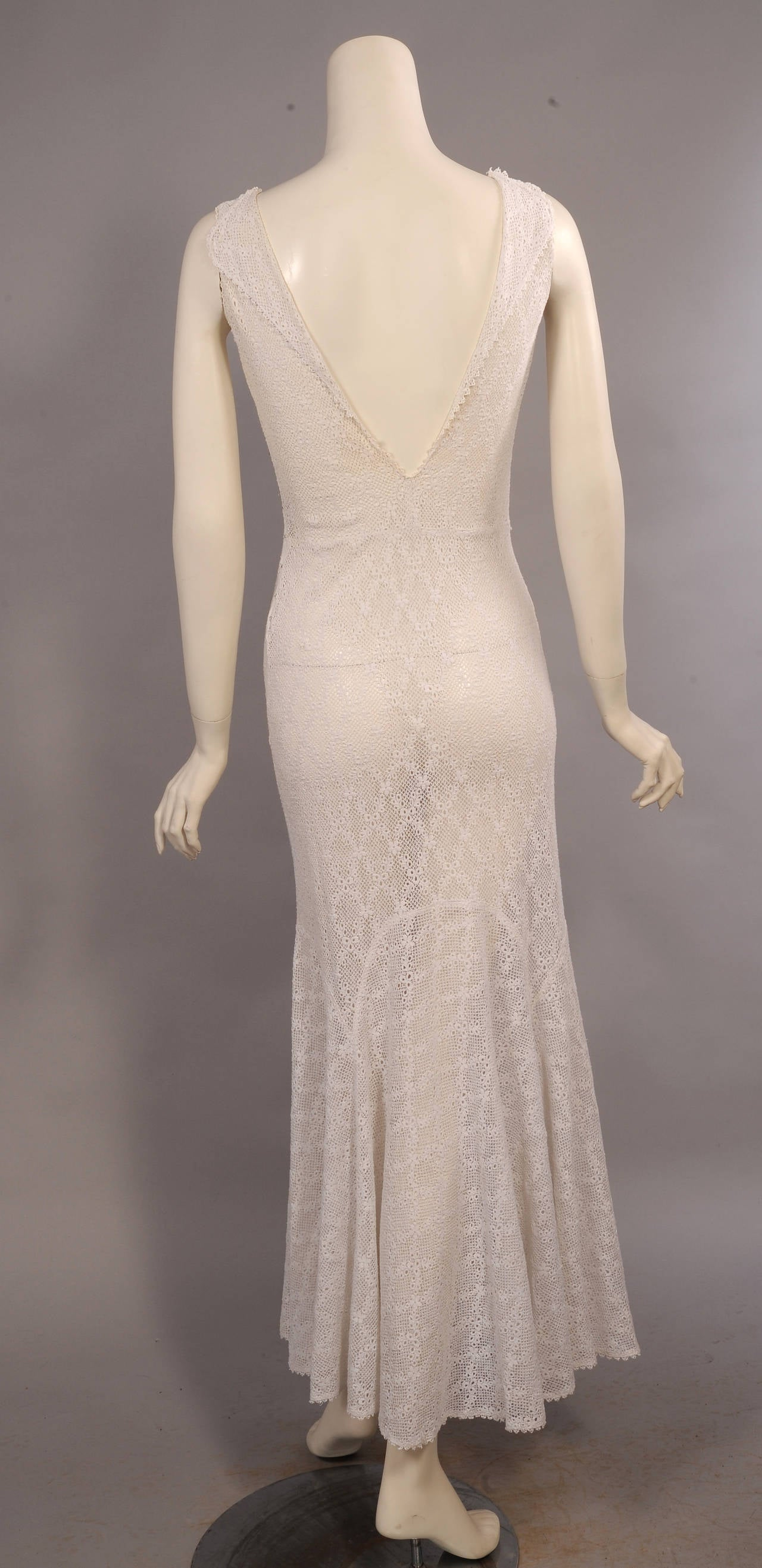 1930 S Bias Cut White Lace Evening Dress At 1stdibs