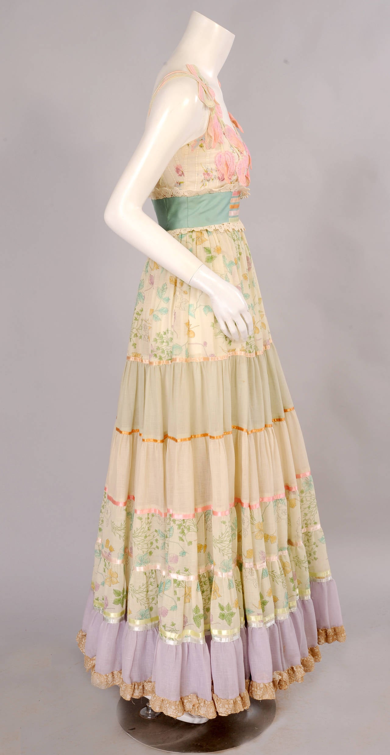 Early Giorgio di Sant' Angelo Maxi Dress and Shawl 4