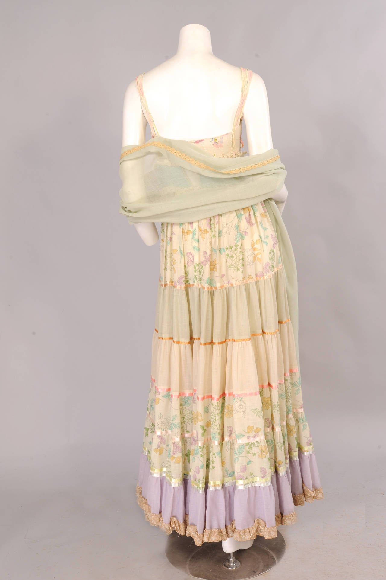 Early Giorgio di Sant' Angelo Maxi Dress and Shawl 5