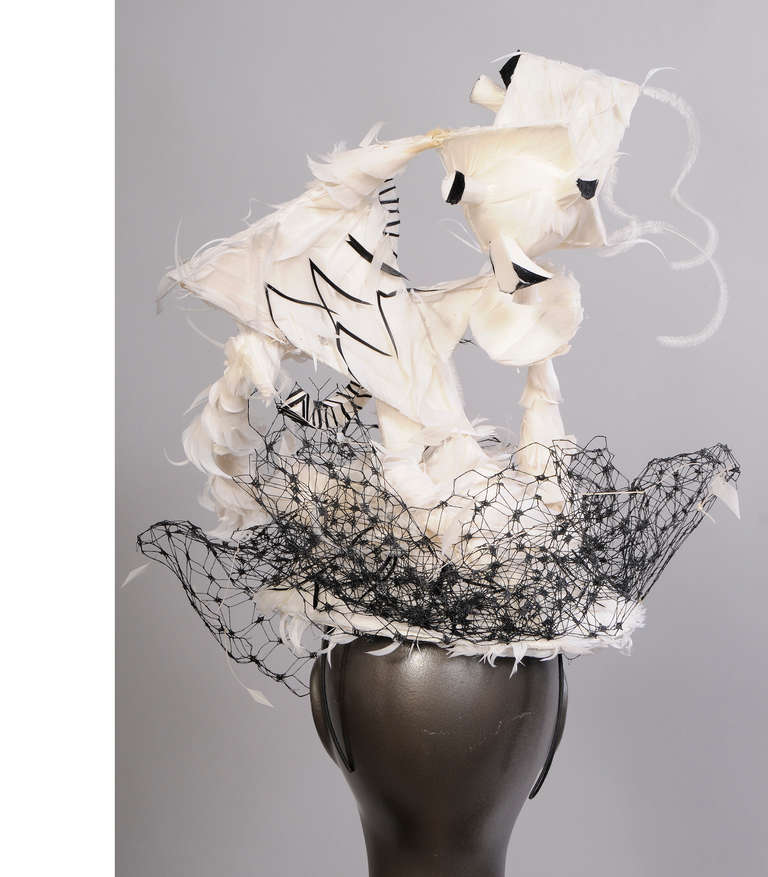 Philip Treacy For Chanel Haute Couture Runway Worn By