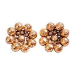Chanel Signed Golden Earrings