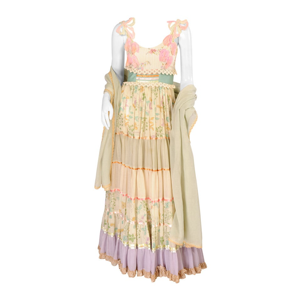 Early Giorgio di Sant' Angelo Maxi Dress and Shawl 1